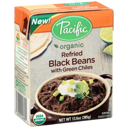 Pacific Natural Foods Organic Refried Black Beans With Green Chiles
