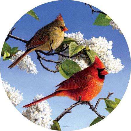 Custom Decor Sun Catcher Insert - Cardinal and Lilacs