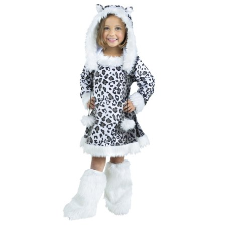 Snow Leopard Toddler Halloween Costume, 3T-4T
