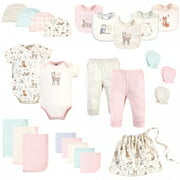 Hudson Baby Infant Girl Layette Start Set Baby Shower Gift 25pc, Enchanted Forest, 0-6 Months