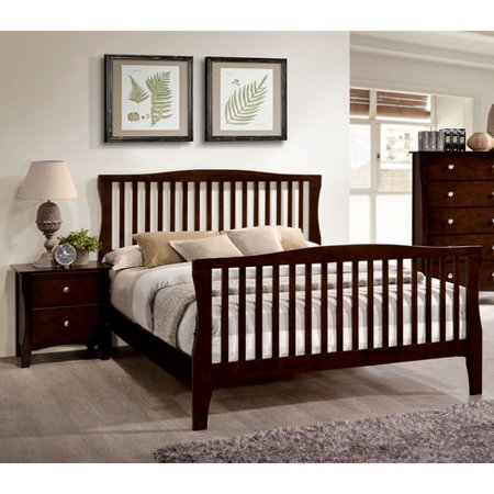 Cherry Oak Bedroom Set - Furniture of America Areena 2-Piece Areena Brown Cherry Bedroom Set, Multiple Sizes