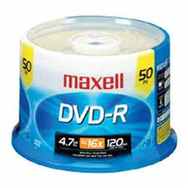 Maxell Corp. Of America MAX638011 DVD-R- 16X Speed- 4.7GB- Branded- F-Recorders-Drives- 50-PK