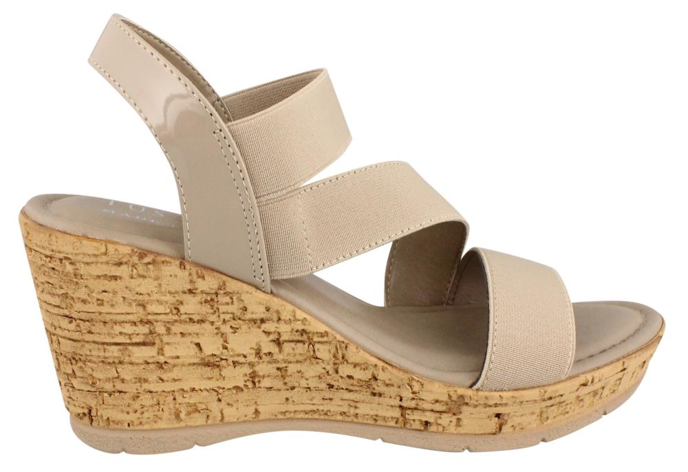 Easy Street Piceno Women Open Toe Synthetic Wedge Sandal by Easy Street