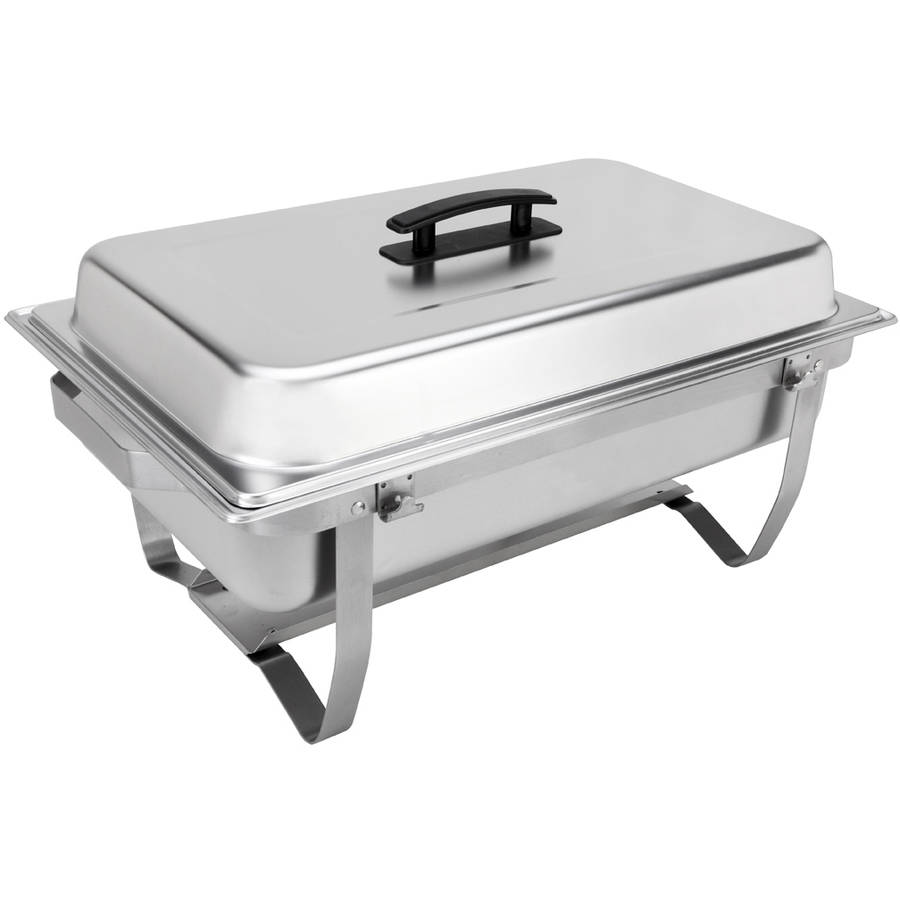 Sterno Products 70153 Foldable Frame Buffet Chafer Set, 8-Quart
