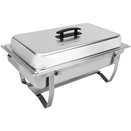 Sterno Products 70153 Foldable Frame Buffet Chafer Set, - Sterno Trays