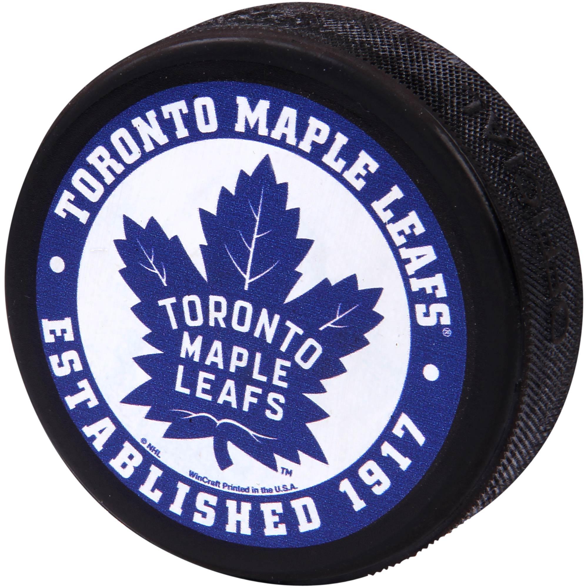 Toronto Maple Leafs WinCraft Printed Hockey Puck - No Size