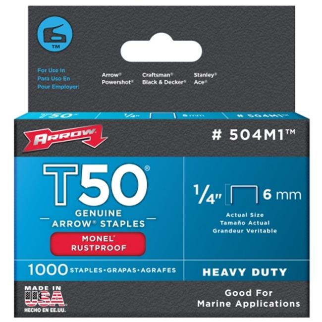 Arrow Fastener Co. .25in. T50 Monel Staples  504M1