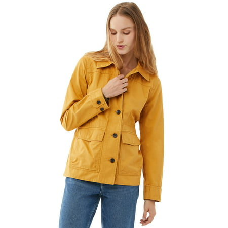 Free Assembly Women's Fatigue Jacket with Cinching