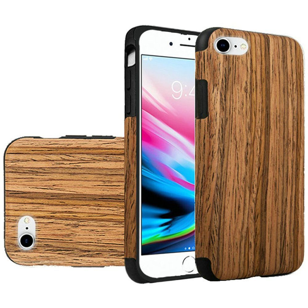 iphone 6 phone apple iphone 7 8 by insten wood grain rubber tpu 11374
