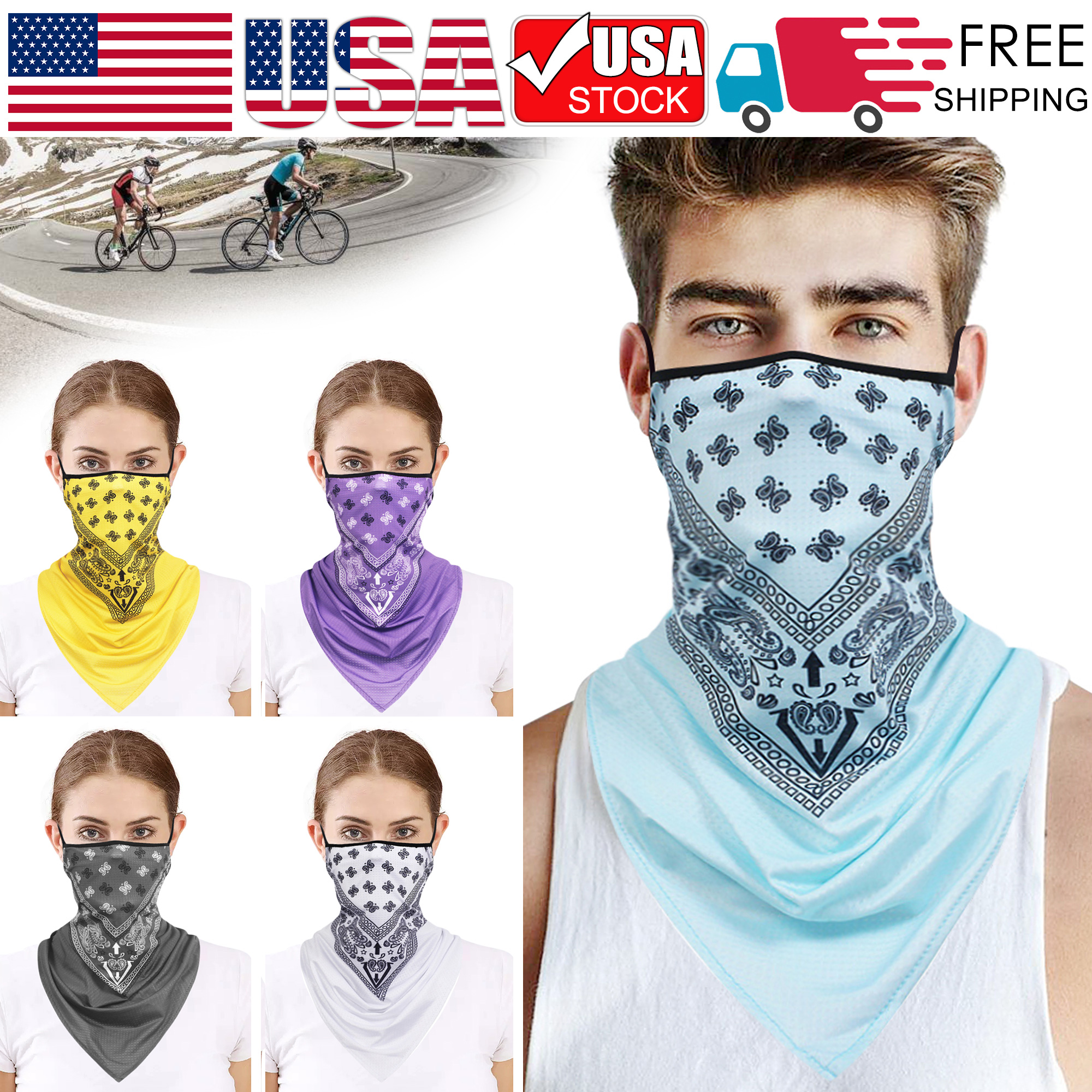 Face Mask Neck Gaiter Balaclava Windproof,Anti Dust Magic Scarf for Women Men Sport Basketballs Bandana