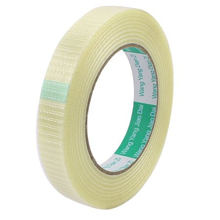 - 18mm Height 50M Length Long Adhesive Insulating Grid Glass Fiber Tape Roll