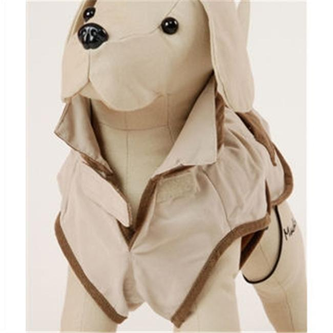 EGR DR HUN 18 18'' Corduroy Hunter Dog Coat in Cream with Brown Pockets