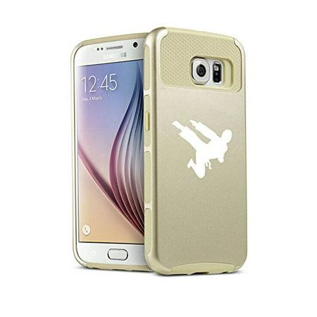 For Samsung Galaxy (S6 Edge + Plus) Shockproof Impact Hard Soft Case Cover Ninja Karate (Gold) - The Gold Ninja