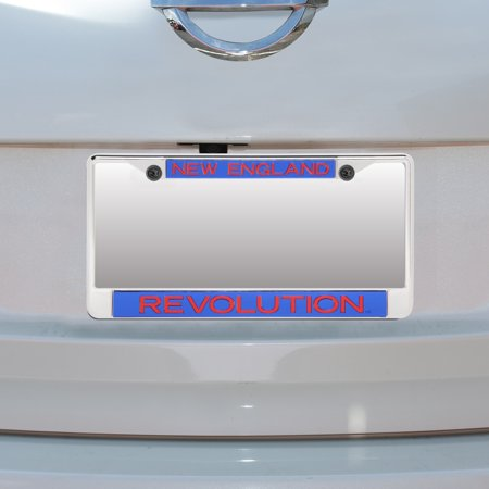 New England Revolution Acrylic Insert Chrome License Plate Frame - No Size Chrome Plated Insert