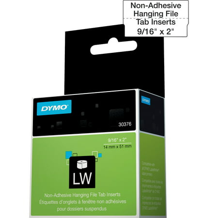 Vinyl Tabs Inserts (Dymo, DYM30376, Hanging File Tab Inserts, 260 / Roll, White)