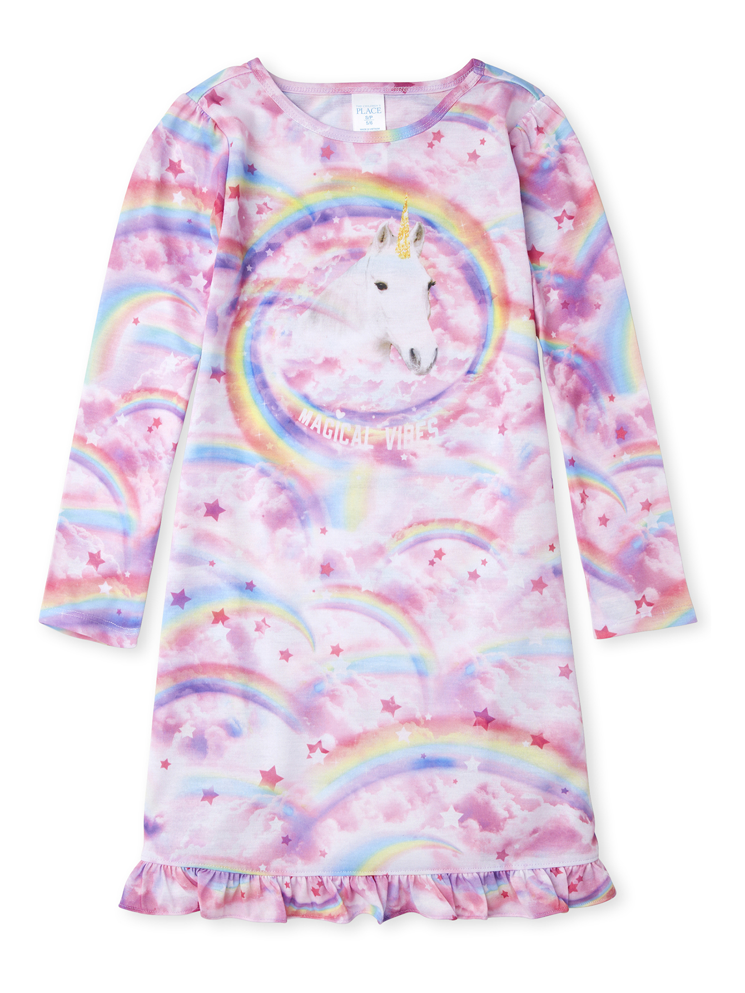 The Childrens Place Girls Unicorn Night Gown