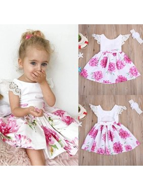 54a38c1475c Product Image 2-7Year Floral Toddler Kids Baby Girls Lace Flower Dress  Sundress Party Dresses. Honganda
