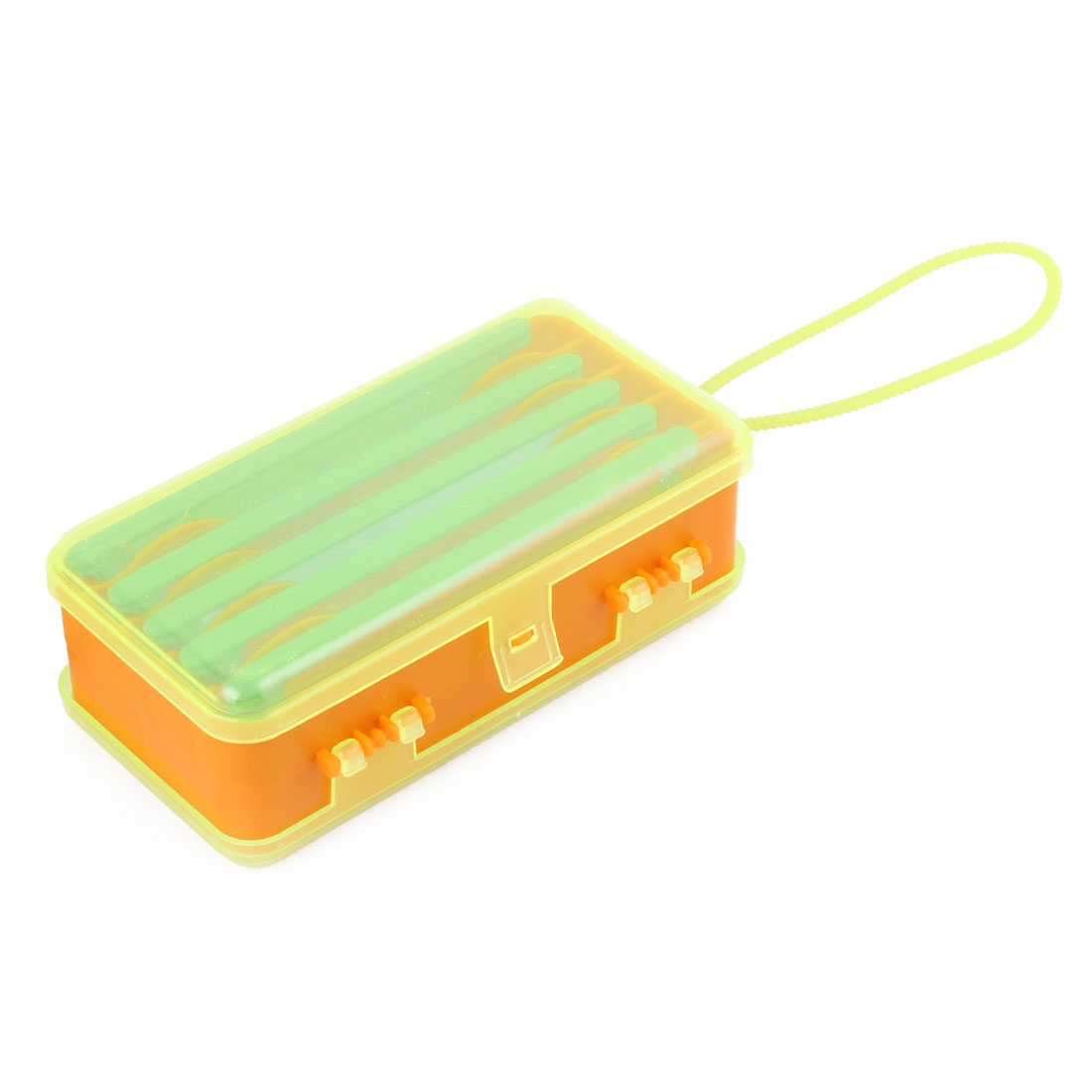 Plastic Dual Side 9 Compartments Fishing Bait Line Spool Tackle Storage Box Case by