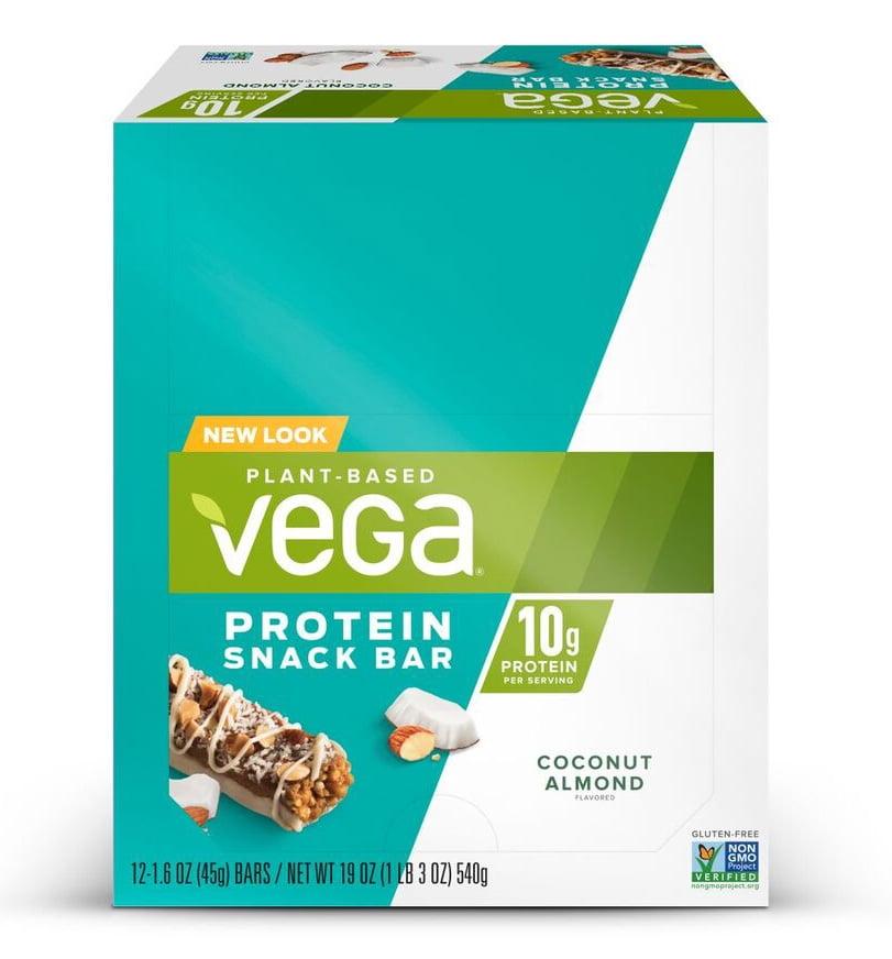 Vega Plant Protein Snack Bar, Coconut Almond, 10g Protein, 12 Ct