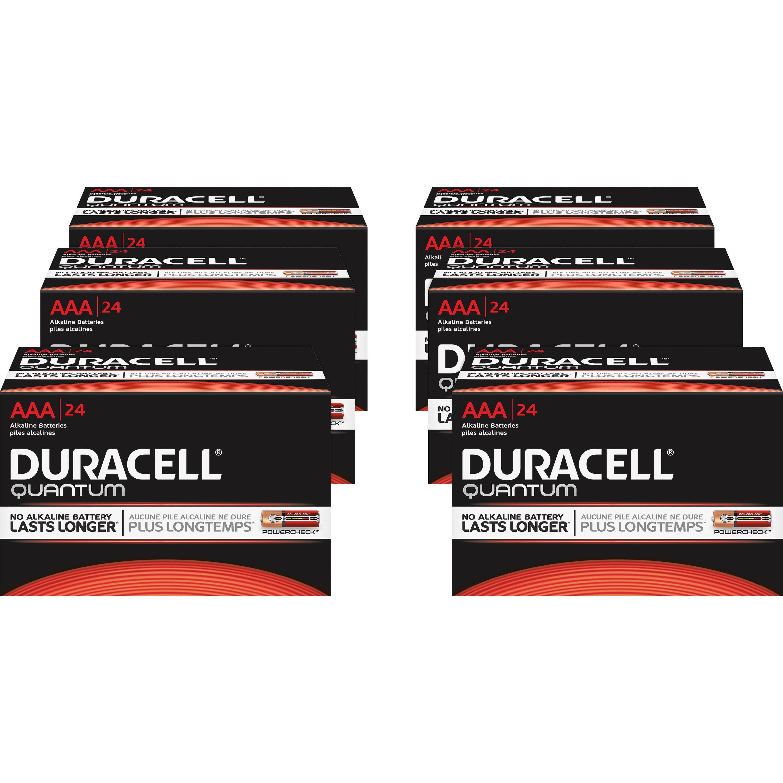 Duracell, DUR66241CT, Quantum AAA Batteries, 144 / Carton, Red,Black