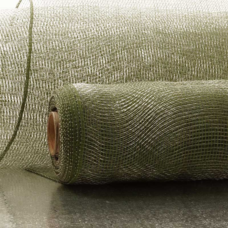 """21"""" X 10 Yards Olive Crystal Deco Mesh by Paper Mart"""