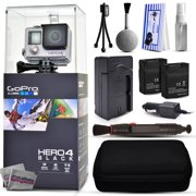 GoPro Hero 4 HERO4 Black CHDHX-401 with Two Extra Batteries + Travel Charger + Premium Case + Lens Cleaning Pen + Cleaning Kit