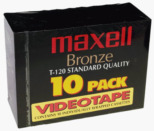 Maxell Bronze T-120 VHS Cassette Tapes 120 Minutes (10 Pack) by Maxell