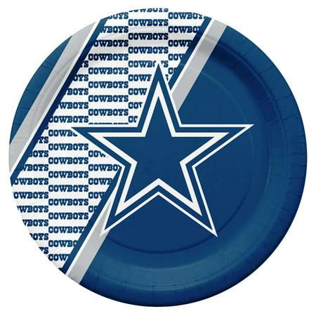 Dallas Cowboys Disposable Paper Plates - Dallas Cowboys Party Favors