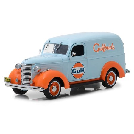"1939 Chevrolet Panel Truck ""Gulf Oil"" (""Gulfpride"") Light Blue Running on Empty Series 1/24 Diecast Model by Greenlight"