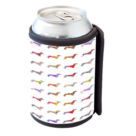 KuzmarK Insulated Drink Can Cooler Hugger - Dachshund Dogs Pretty