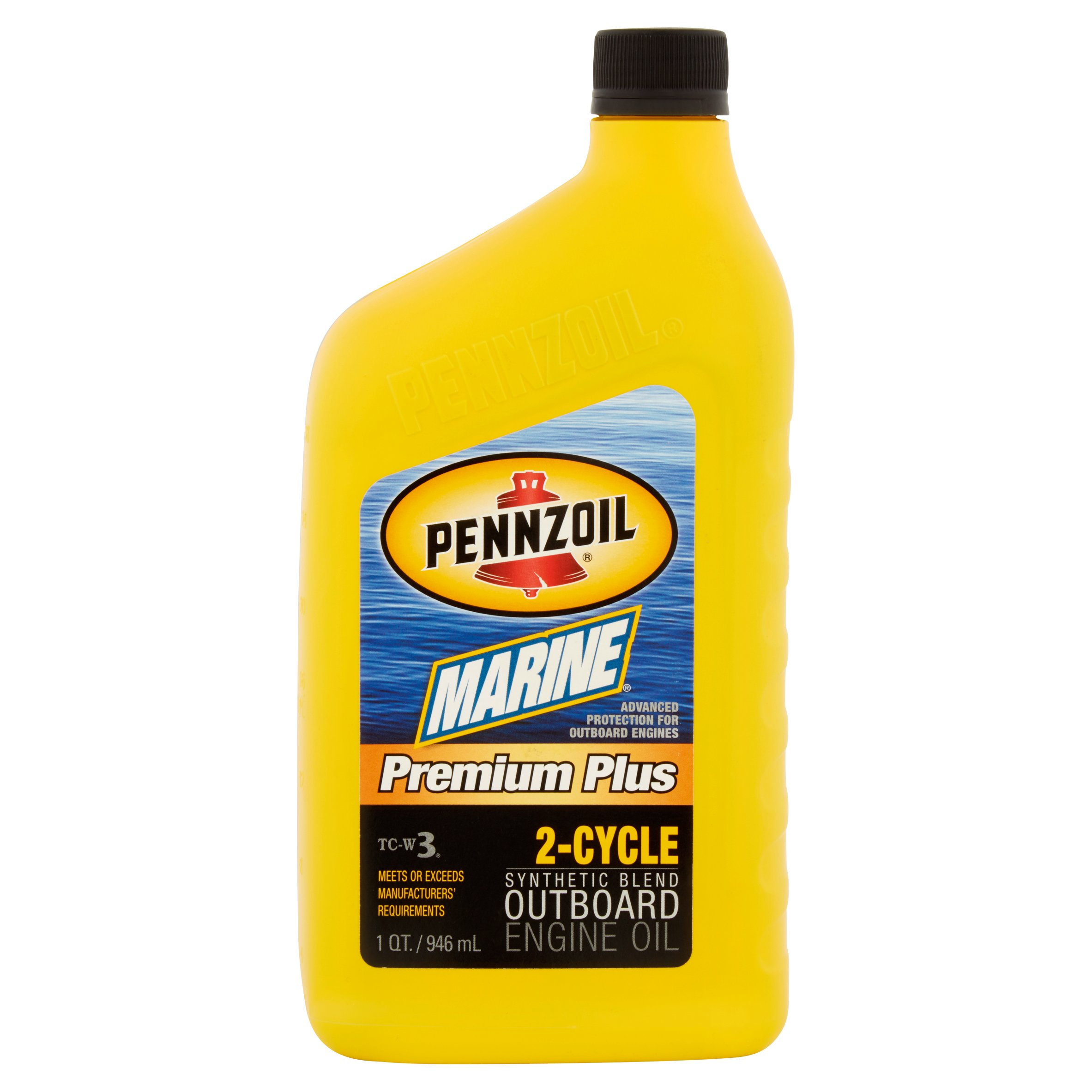 Pennzoil Marine TC-W3 Premium Plus OB 2-Cycle Motor Oil, 1-quart bottle