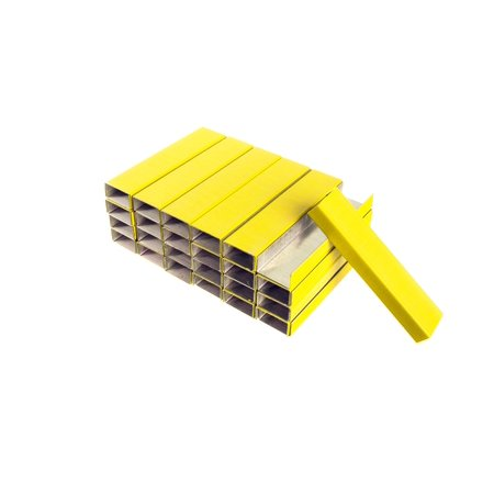 PraxxisPro Premium Chisel Point Staples, Standard Size (Yellow, 50,000 Count)
