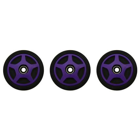 PDD Middle & Outside Rear Purple Idler Wheels Kit for Snowmobile ARCTIC CAT ZL 800, ESR 2001