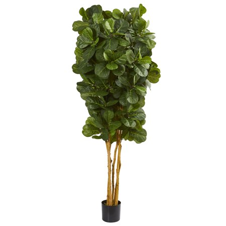 Nearly Natural 7 ft. Fiddle Leaf Fig Artificial (Best Fig Tree For Zone 7)