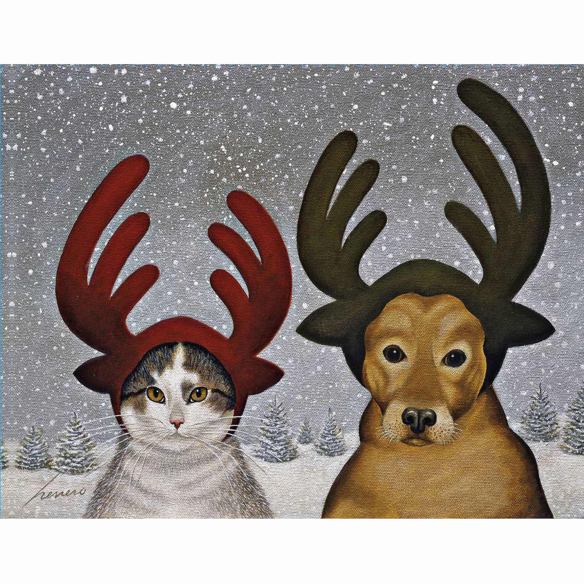 Squeeky Ashby and Lucy Zirbel Boxed Christmas Card
