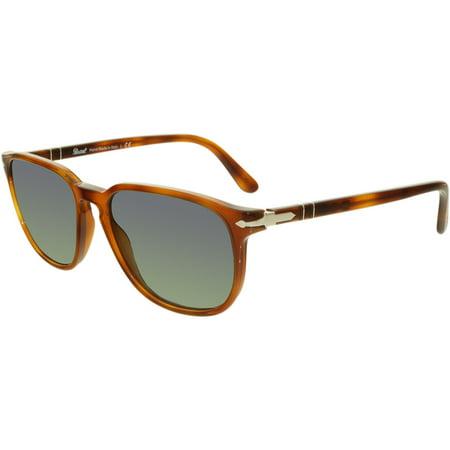 Persol Mirrored PO3019S-96/56-55 Brown Square Sunglasses