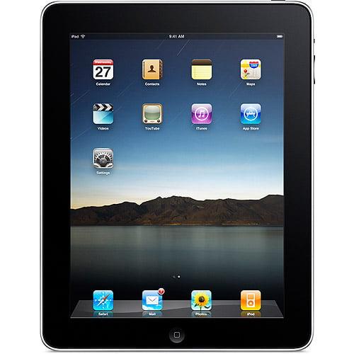 """Grade B Apple iPad 1 1st Generation 64GB Wi-Fi 9.7"""" Tablet Black A1219"""