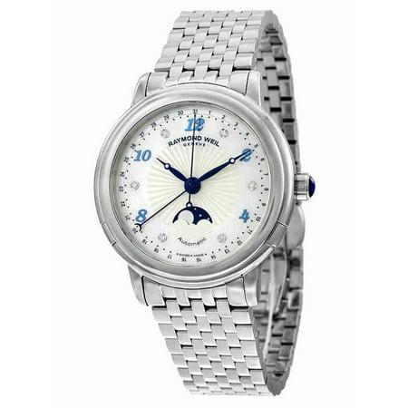 bf259849b Raymond Weil - Maestro Moonphase Automatic Ladies Watch 2739-ST-05985 -  Walmart.com
