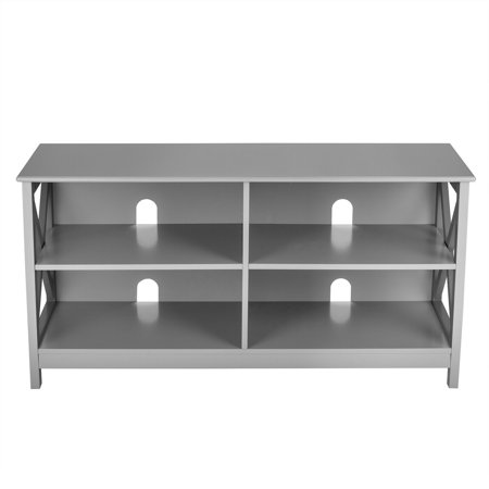 Gymax TV Stand Entertainment Media Center for TV's up to 55'' w/ Storage Shelves Gray - image 7 of 10