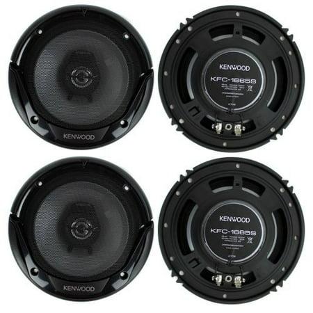 4) New Kenwood KFC-1665S 6.5 Inch 600 Watt 2-Way Car Audio Door Coaxial