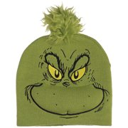 The Grinch Knit Cap w/ 3D Hair - Christmas Themed Headwear - 100% Polyester