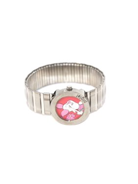 PIGLET WINNIE THE POOH SILVER ROUND STAINLESS STEEL EXPANSION WATCH