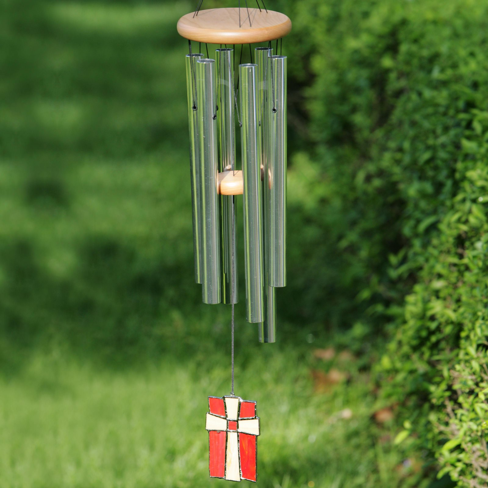 Woodstock Amazing Grace Cross 28 Inch Wind Chime
