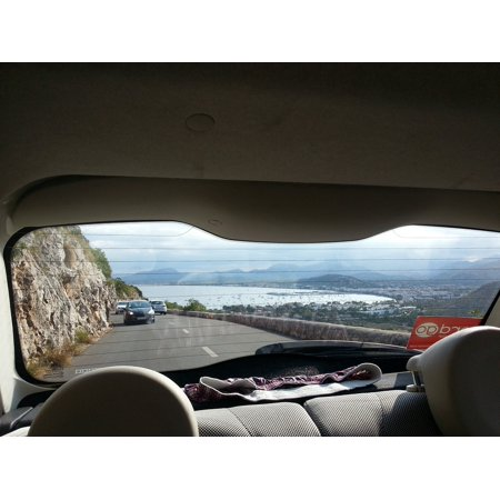 Canvas Print Spain Car Mallorca Coastal Rear Window Window Stretched Canvas 10 x 14