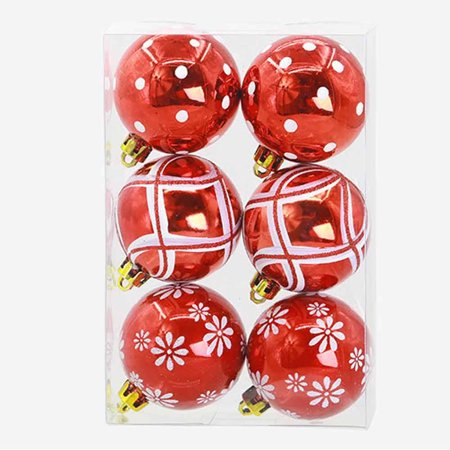 DZT1968 Christmas 6 Balls Wreath Door Wall Ornament Garland Decoration (Fireplace Christmas Door Decorations)