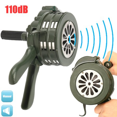 110db Car Motor Aluminium Alloy Air Raid Emergency Alarm Hand Operated Siren