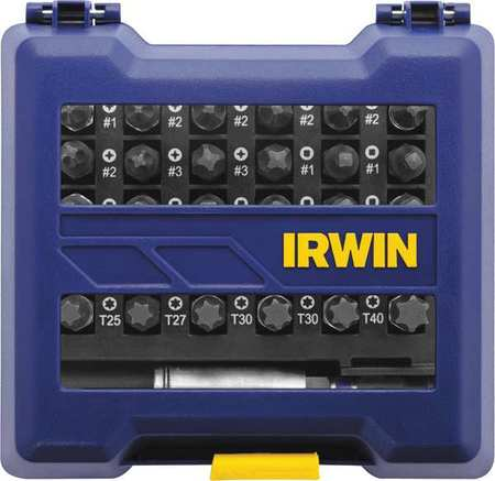 Irwin Screwdriver Bit Set, Tool Steel, 1866985