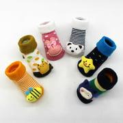 VICOODA Baby Boys Girls Infant Winter Cotton Cartoon Warm Socks Thicken Anti Slip Floor Socks Leg Warmer