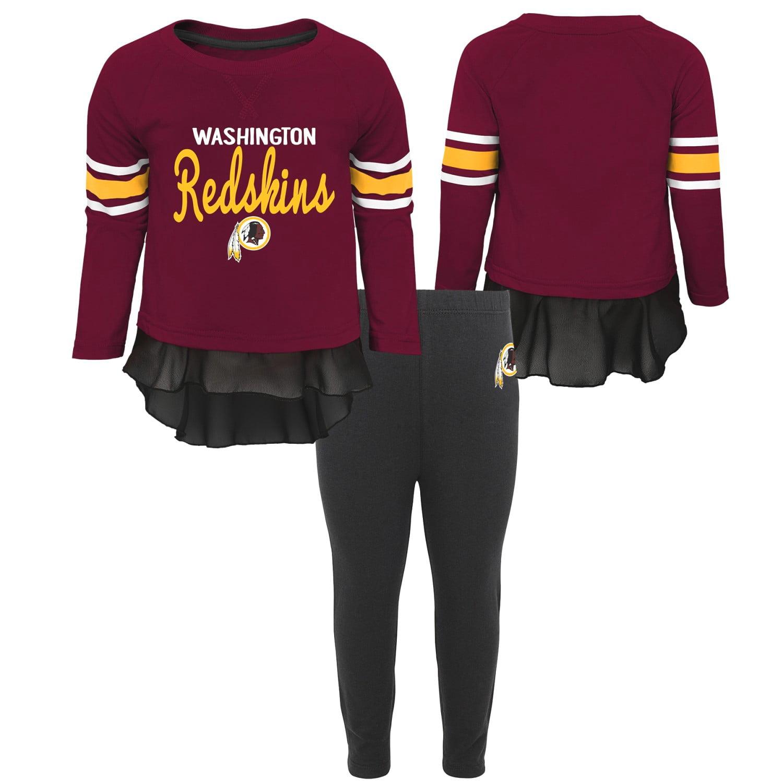 "Washington Redskins NFL Toddler Girls ""Mini Formation"" L/S Top & Legging Set"