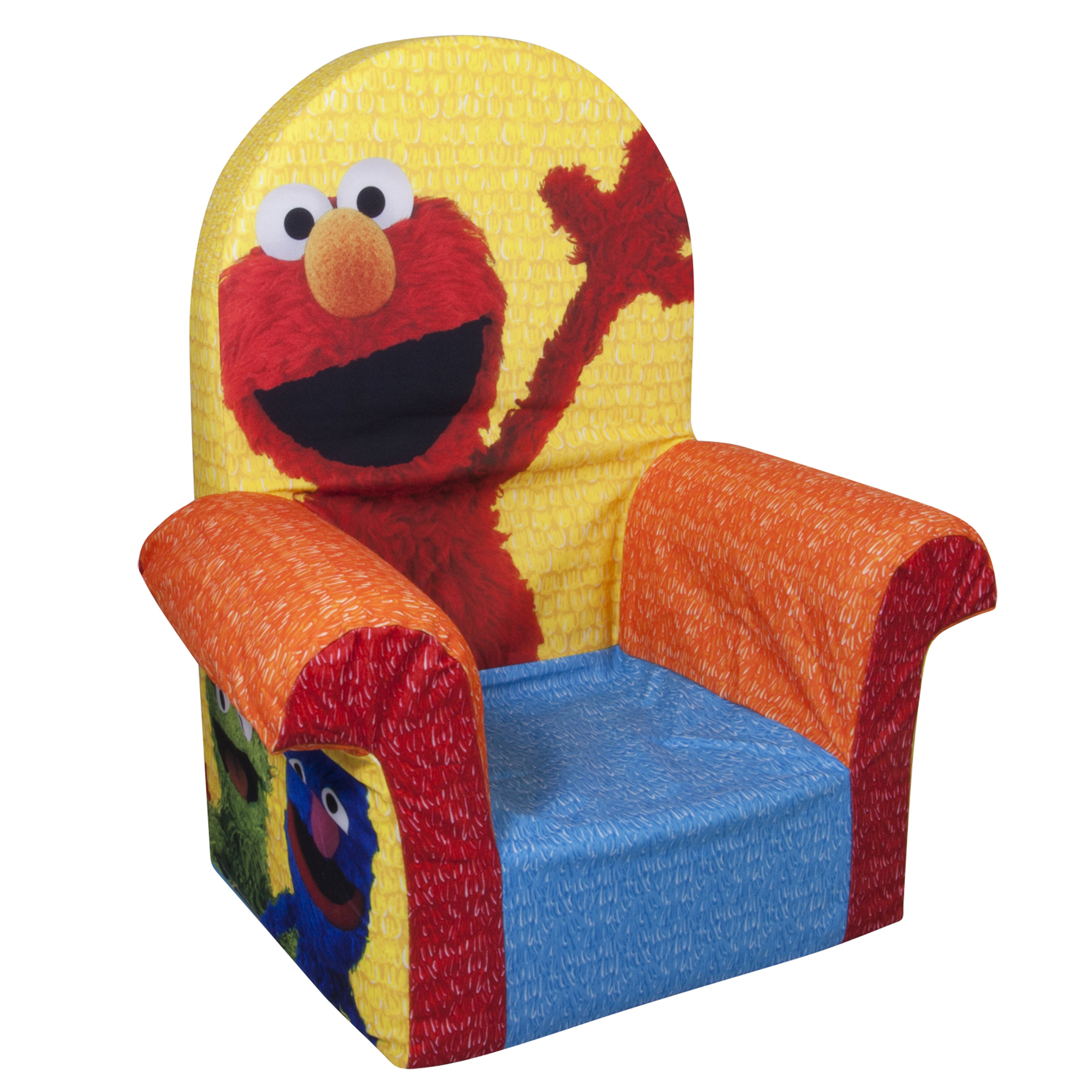 Marshmallow Furniture, Children's Foam High Back Chair, Sesame Street's Elmo, by Spin Master